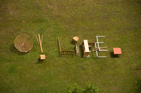 """O! LIFE"" actual type installation (aerial view)"